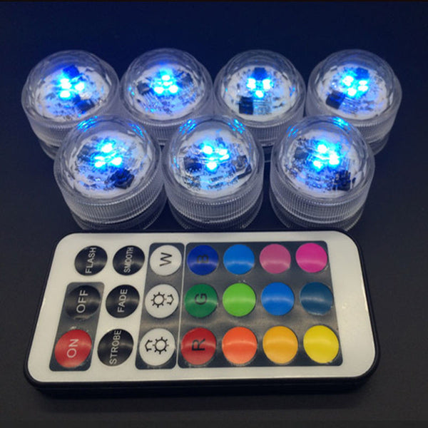 1 pc LED Candle Light Waterproof Change To The Battery Remote Candle Discus Light - Idiyka.com