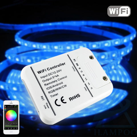16Million colors Wifi 5channels RGB/WW/CW led  control music - Idiyka.com