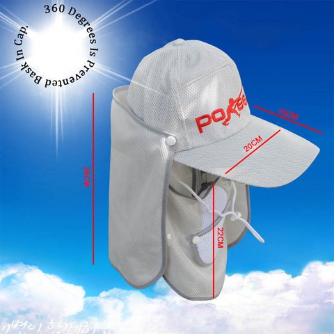 360 outdoor breathable sun hat scarf  Jungle hat anti- sandstorm haze - Idiyka.com