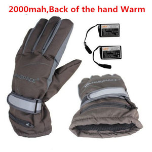 3.7V/2000MAH Electric  Sport Ski Lithium Battery Self Heated Gloves,Warm 3 hours - Idiyka.com