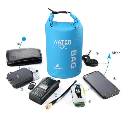 2L Sports Waterproof Dry Bag Backpack Floating Boating Camping Idiyka
