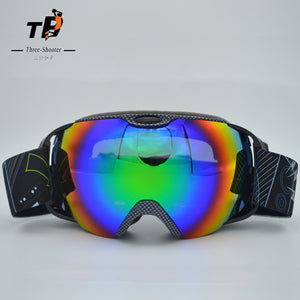 Skiing double UV400 Anti-Fog Big Ski Mask Goggles Idiyka