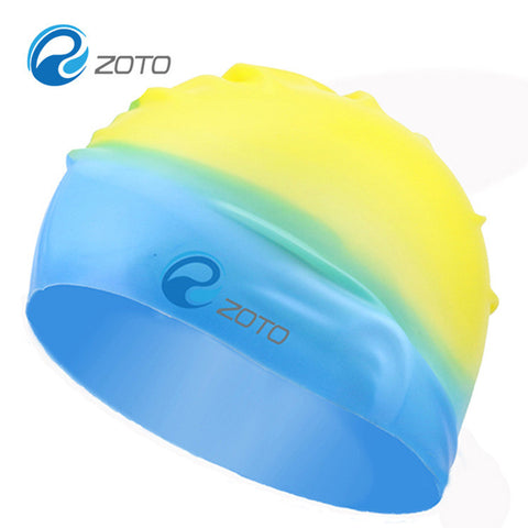 100% Silicone Swim Cap Anti-slip Waterproof Elastic Multi Color Swimming Hat - Idiyka.com