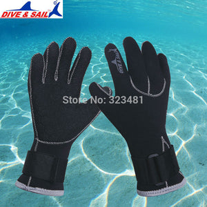 3mm Neoprene Diving Gloves Anti-slip Winter Warm Swimming Skiing Snorkeling - Idiyka.com