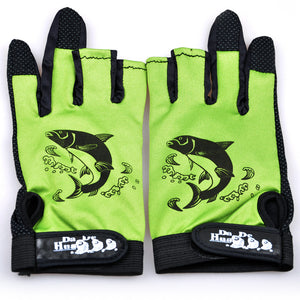1 Pair Fishing Gloves Anti-Slip 3 Low Fingers Idiyka