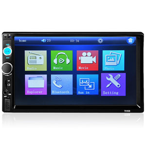 Hot 2 Din Car Video Player DVD 7'' HD Touch Screen Bluetooth Stereo Radio - Idiyka.com