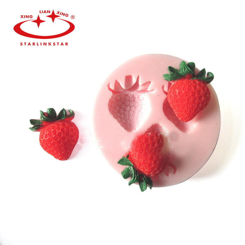1Pcs Silicone Cute Strawberry Cake Mold - Idiyka.com