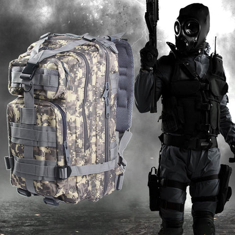 3P Military Tactical Backpack Hunting Assault Camouflage Oxford Sport Bag 30L Idiyka
