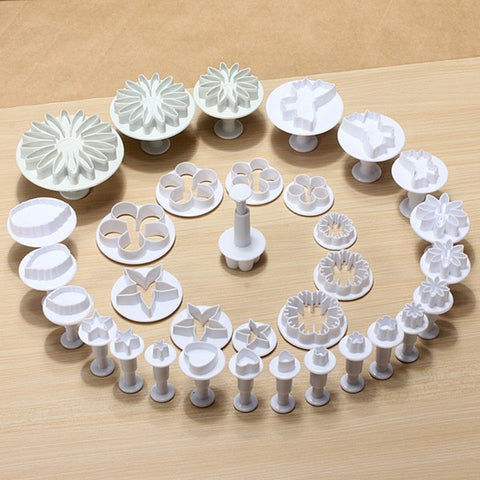 Cake Pastry Plunger Cutters  Baking Moulds 33Pcs