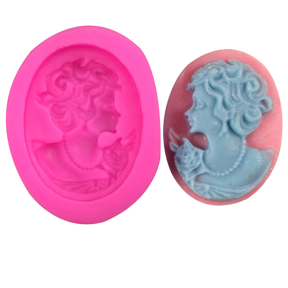 Beauty head silicone mold - Idiyka.com