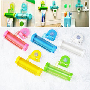 1 pc Plastic Rolling Tube Squeezer Toothpaste Easy Dispenser Bathroom Holder Idiyka