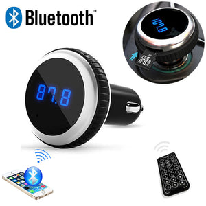Car MP3 Audio Player Bluetooth FM Transmitter  FM Modulator Car Kit - Idiyka.com