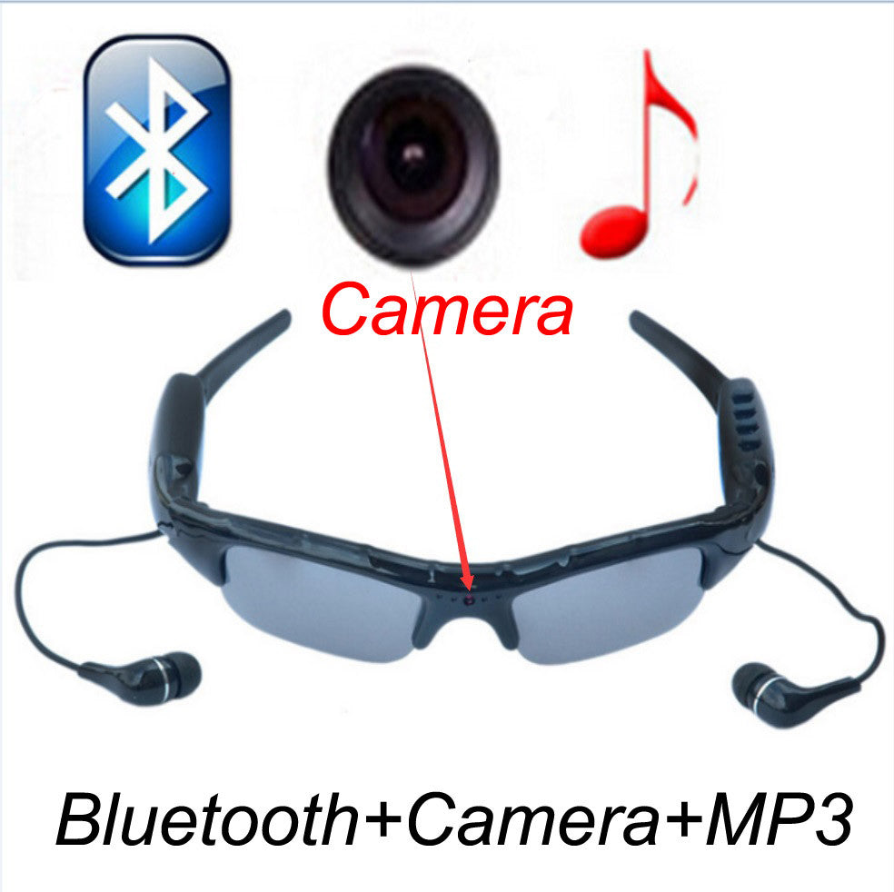 Sport Wireless Sunglasses Bluetooth Camera Eyewear Glasses Support TF Card Video Recorder DVR DV Camcorder mp3 earphone Idiyka