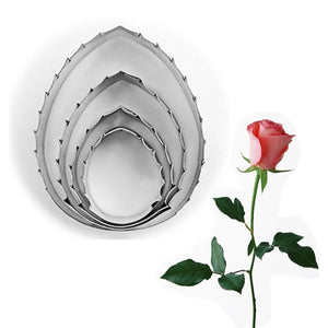 4Pcs/set Rose Green Leaves Cutting Mold - Idiyka.com