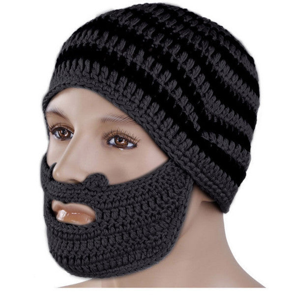 95f51ae2ae4 Special offer of 24.99 USD for Winter Knit Crochet Beard Face Mask ...