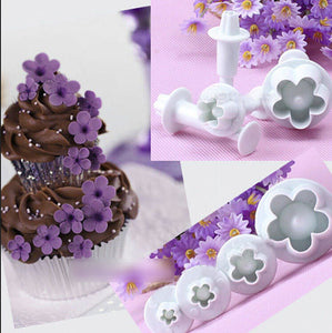 4pcs/set  Plum Blossom Sugar Tools  Baking mould - Idiyka.com