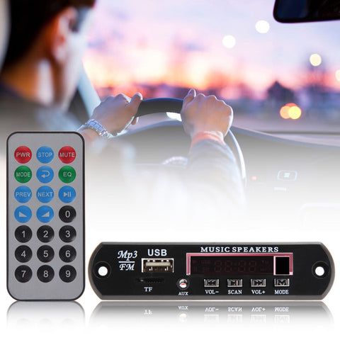 12V Car Music MP3 WMA Decoder Board with remote control USB TF FM Radio Idiyka