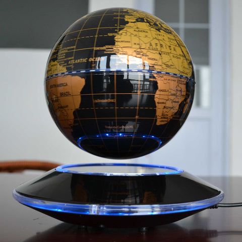 6 Inch Creative Electronic Magnetic Levitation Floating Globe World Map with LED Lights