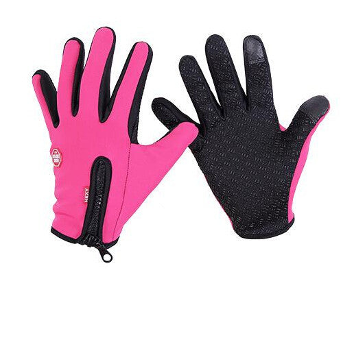 Women ski gloves black -30 warm riding Motorcycle Camping Idiyka