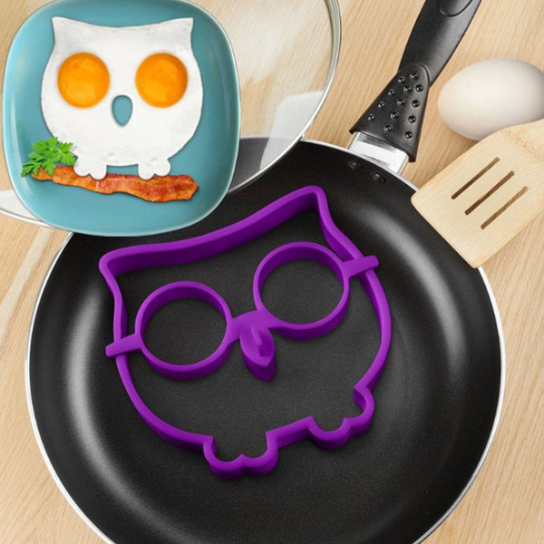 Cute Silicone Owl Egg Fried Shaped Mold - Idiyka.com