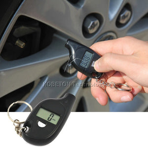 2-150 PSI Digital Car Auto Tire Pressure Tester Motorcycle Tyre Air Meter  LCD Display - Idiyka.com