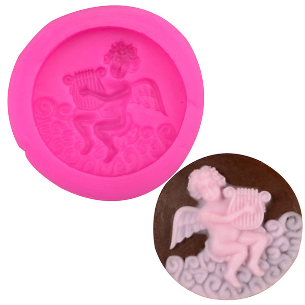 Playing the male angel silicone mold - Idiyka.com