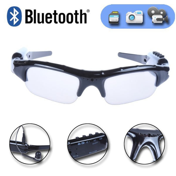 Sport Wireless Bluetooth Camera Eyewear Sunglasses Video Recorder DVR DV Camcorder W/mp3 earphone - Idiyka.com