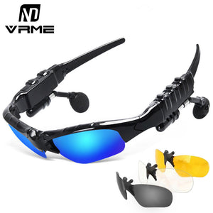 Bluetooth Sun Glasses Wireless  Headset Stereo Headphone with Mic - Idiyka.com