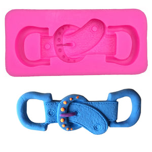 Fashion belt buckle shape  silicon mold - Idiyka.com