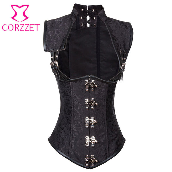Top Sexy Cup less Waist Trainer Vest Corset Gothic Idiyka