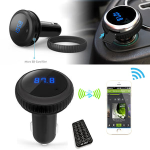 Car MP3 Audio Player Bluetooth FM Transmitter Remote Control - Idiyka.com
