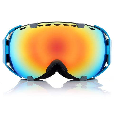 11 Colors Professional Spherical Dual Lens Mirror anti fog UV Snowboard ski goggles - Idiyka.com