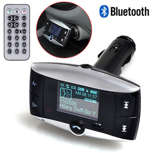 "1.5"" LCD Screen Wireless Bluetooth Car Kit MP3 Player FM Transmitter Radio - Idiyka.com"