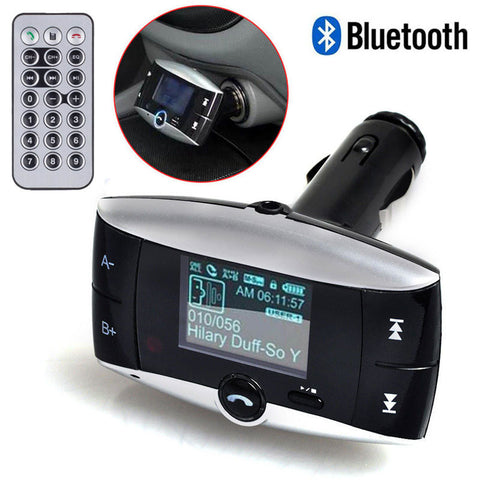 "1.5"" LCD Screen Wireless Bluetooth Car Kit MP3 Player FM Transmitter Radio Idiyka"