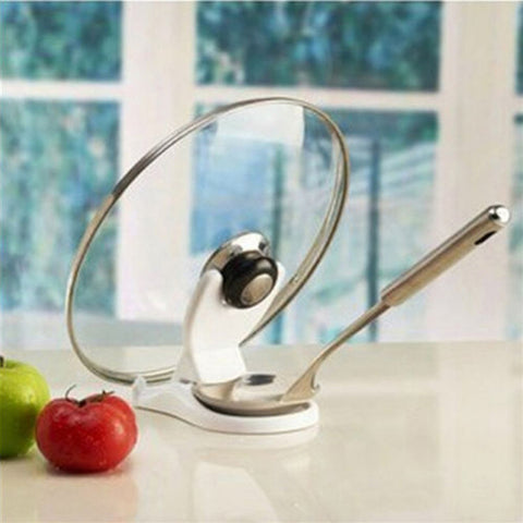 Kitchen Spoon Pot Lid Shelf Pot Cover holder