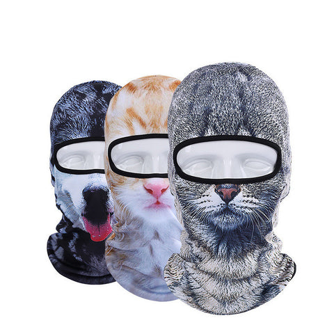 3D Animal Face Mask Outdoor Sports Cap Bicycle Cycling - Idiyka.com