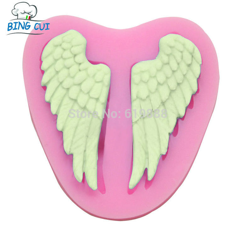Angel Wings Cooking Chocolate Wedding Decoration Silicone Mold - Idiyka.com