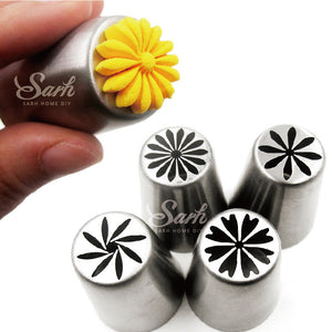 4pcs/lot Metal Stainless Steel Cutters Professional Cake Decorators - Idiyka.com