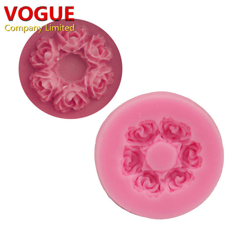 Cute 3.7*0.7CM Rose flower  Silicone mold