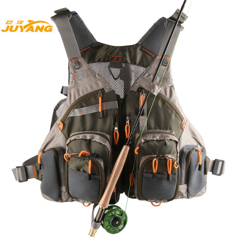 Fishing Mesh Vest General Size Adjustable Mutil-Pocket - Idiyka.com