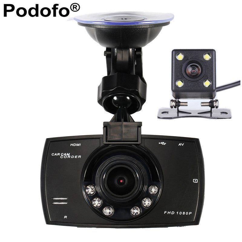 Car Camera Dual Lens 1080P Video Recorder  DVRs Registration WDR  Night Vision - Idiyka.com