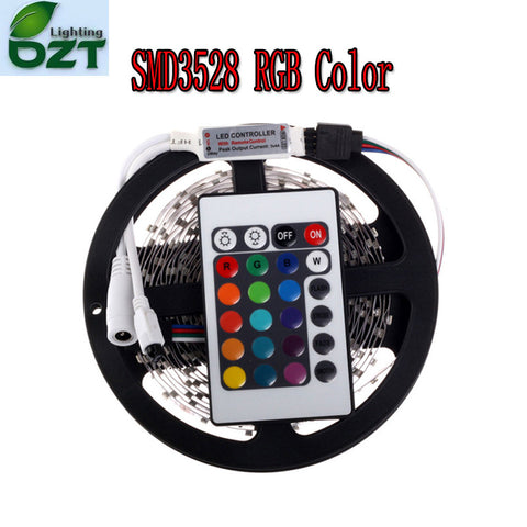 RGB LED Strip 5M 300Led 3528 SMD + 24Key IR Remote Controller Flexible Light Led Tape DC 12V - Idiyka.com