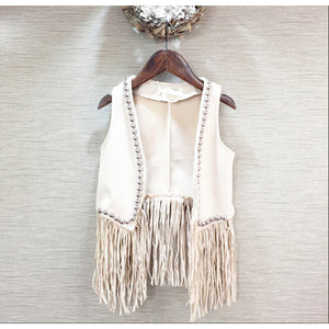 Girls vests Baby girl Tassel European and American waistcoat - Idiyka.com