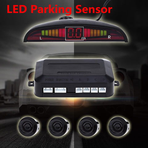 1 Set Car Parking Sensor Kit Car Auto LED Display 4 Idiyka