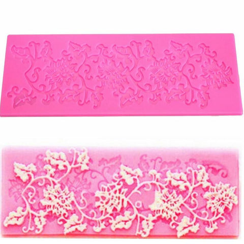 1Pcs Flowers Shape Silicone Lace Mold