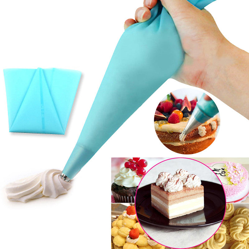 1pcs Reusable Icing Piping Cream Pastry Bag Silicone - Idiyka.com