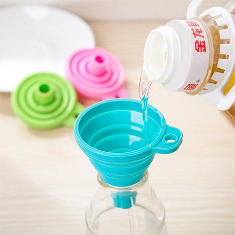 Mini Silicone Gel Fordable Collapsible hopper