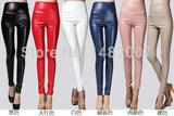 Women clothing skinny PU leather pencil Leggings