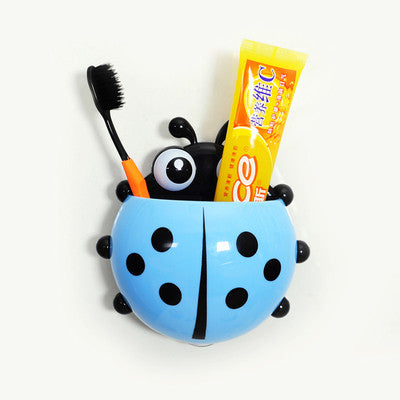 Lovely Ladybug Toothbrush Wall Suction  Bathroom Sets - Idiyka.com