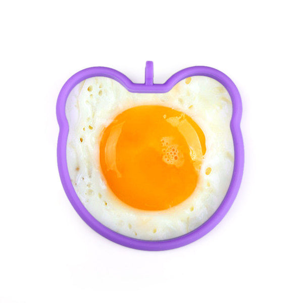 1Pcs Silicone Pancake Cooking Tools 5 different  Shaped  Egg Mold - Idiyka.com